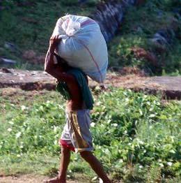 man with burden