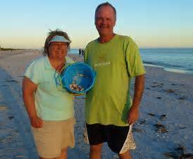 couple with seashells