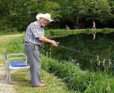 old man fishing